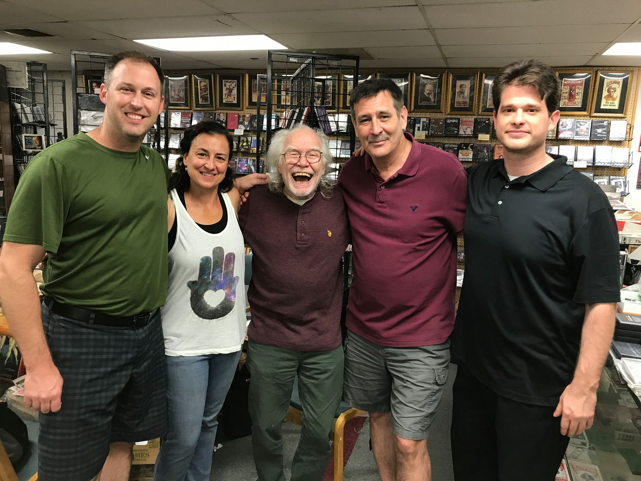 "The Cast of Armed Forces Entertainment's ""Operation Magic All-Stars"" visits Denny Haney at the Denny & Lee Magic Studio"