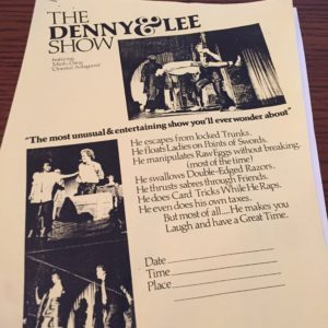 This one-page ad for the Denny & Lee Show served as the cover for a mimeographed manuscript sold to magicians that contained invaluable information on making it in an uncertain business.
